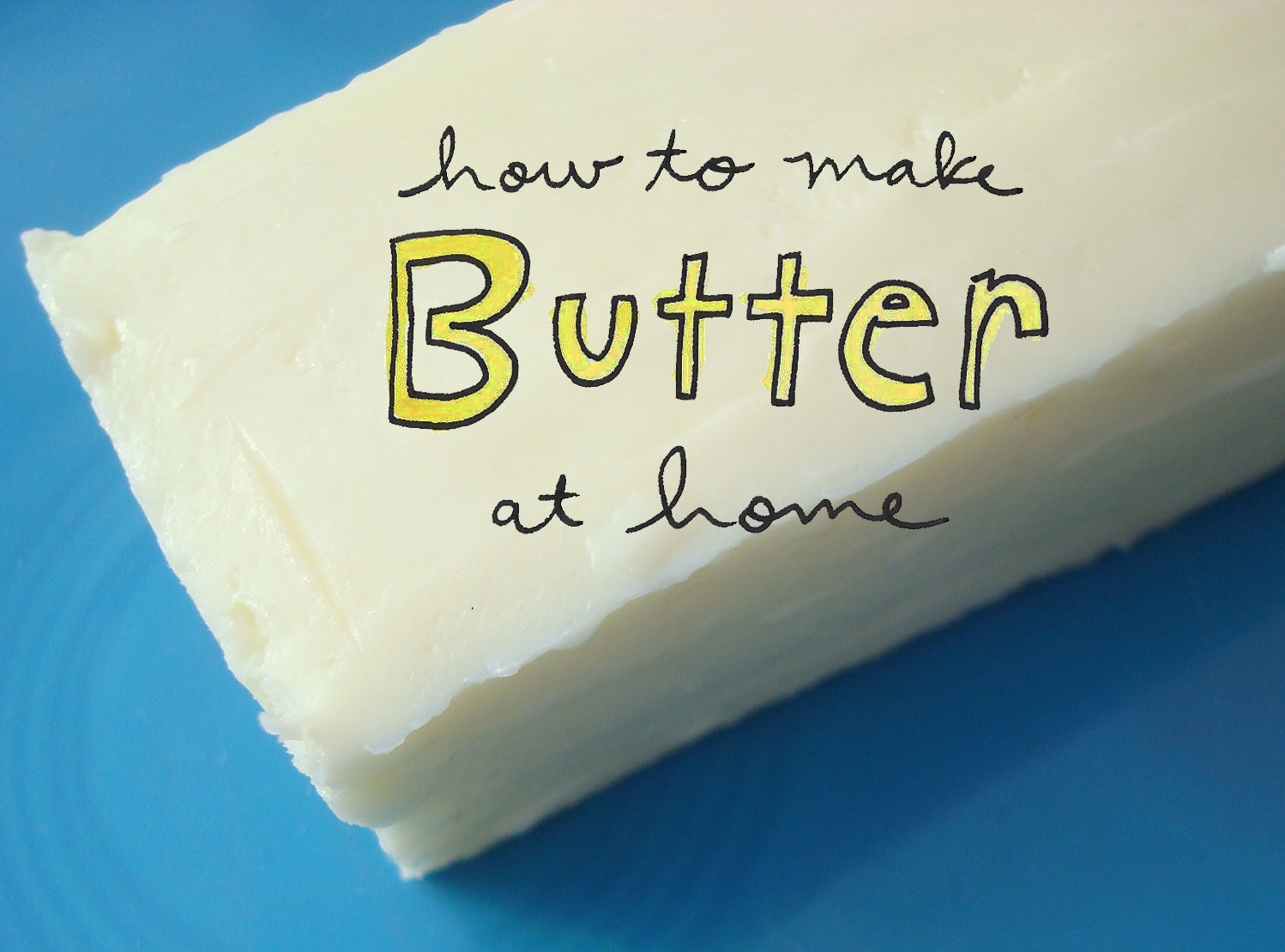"""How to make butter at home"" graphic, on Craftsy"