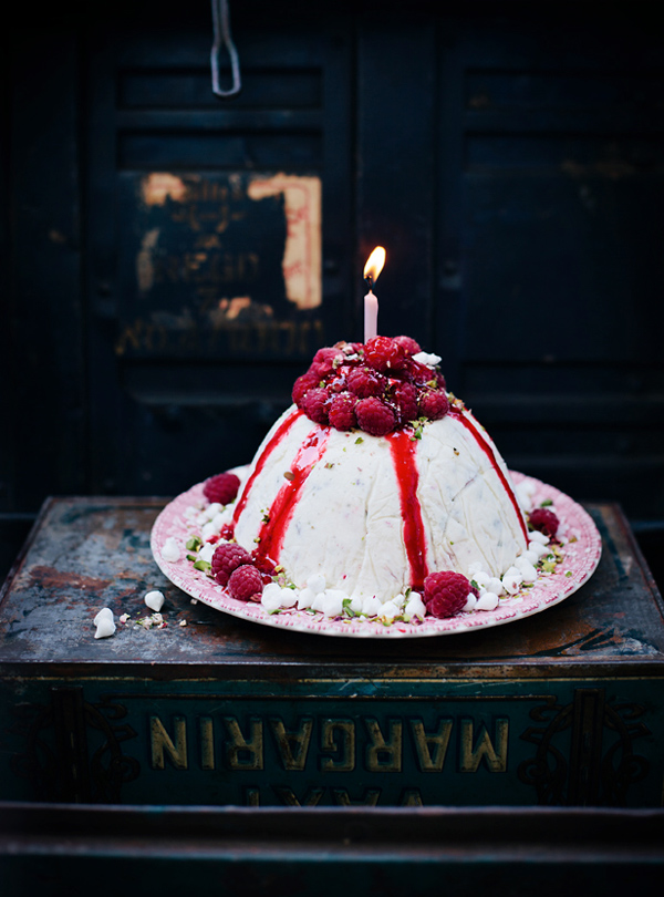 Rasberry Volcano Cake - Styling Your Cakes to Photograph