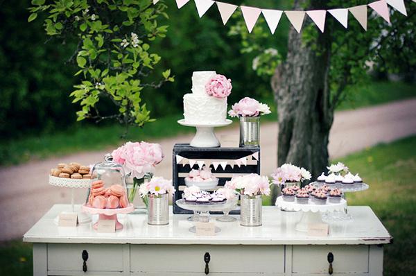 Vintage Pink-Themed Dessert Table