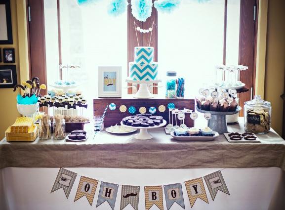 Blue-Themed Dessert Table