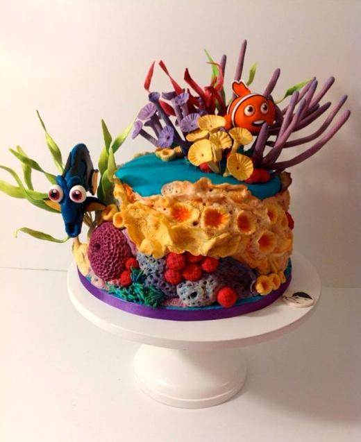 Finding Nemo Themed Cake