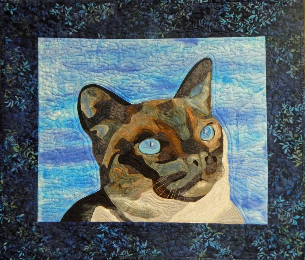 Quilt Featuring Cat Design