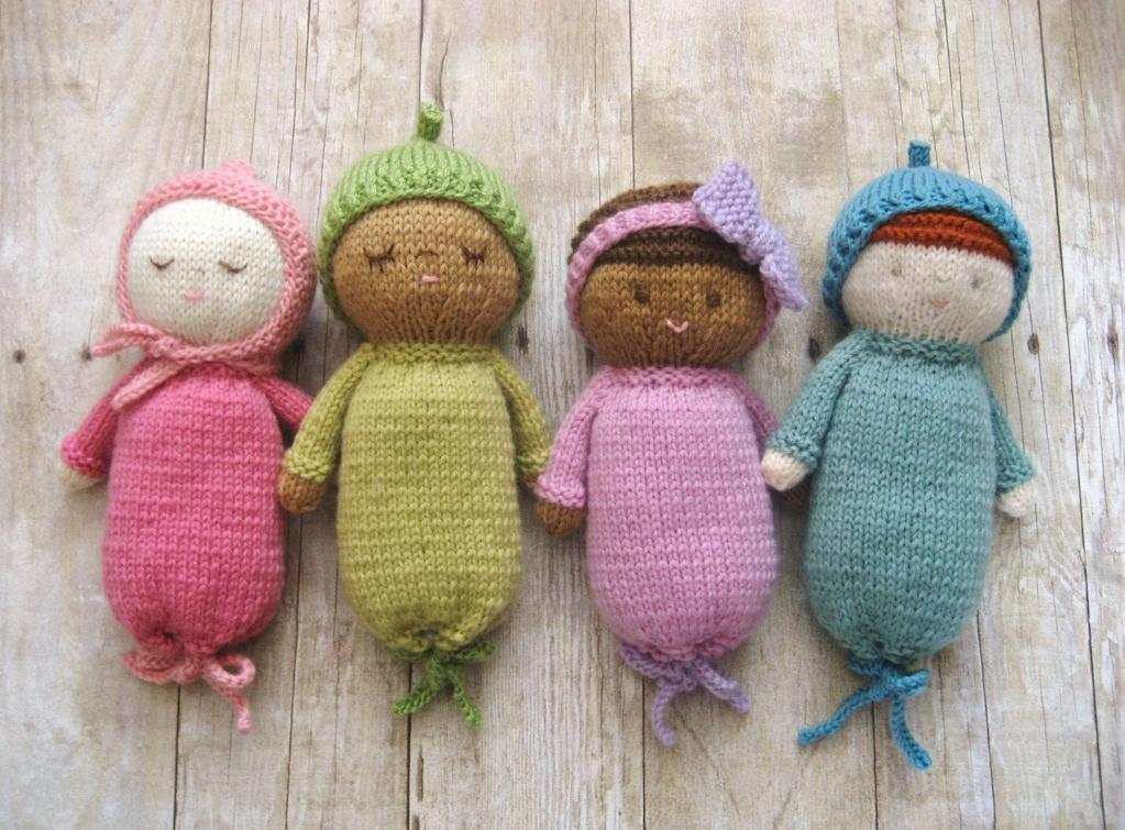 Colorful Knit Babies on Bluprint