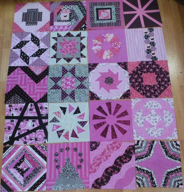 Quilt with Fun and Funky Pink Design