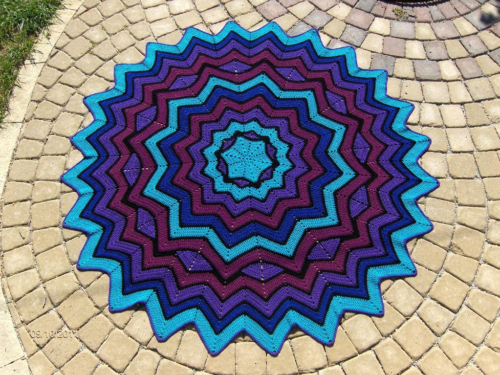 Stained glass rippled blanket, on Bluprint