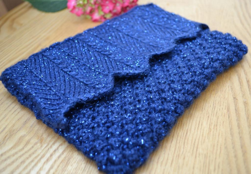 Sparkly Blueberry Clutch