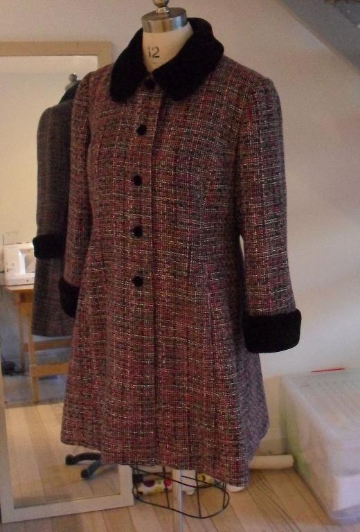 Wool Coat on Dress Form