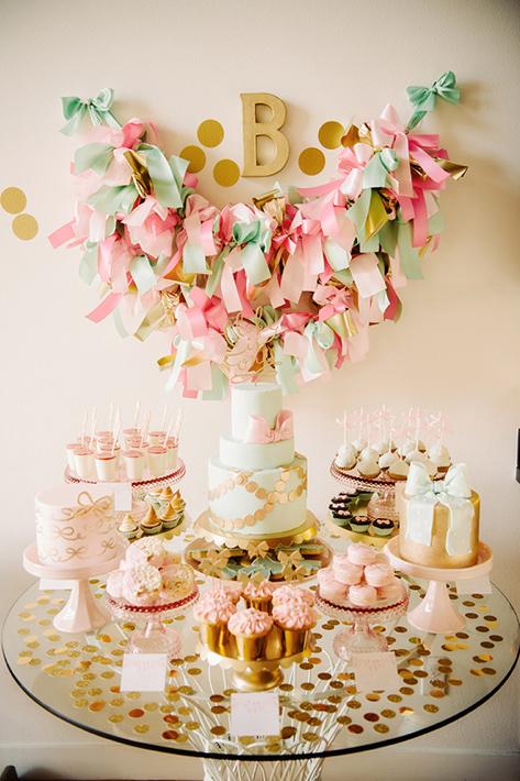 Pink-Themed Dessert Table