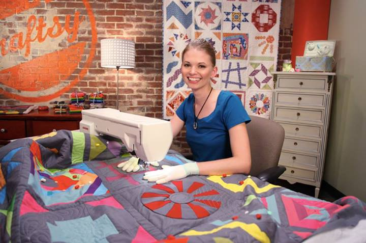 Leah Day Quilting at the Bluprint Studio