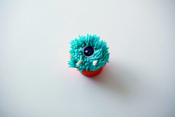 Cupcake Complete with Monster Fur and Teeth