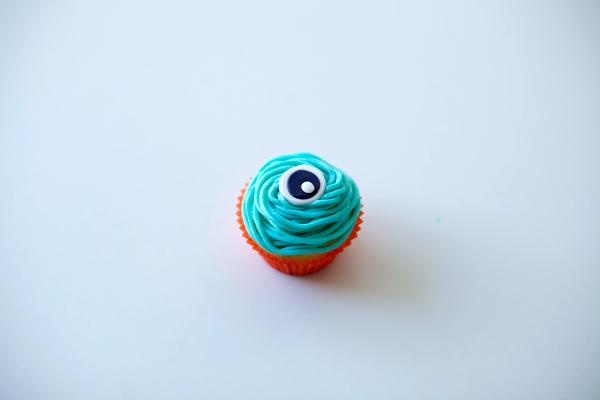 Cupcake with Eyeball on Top