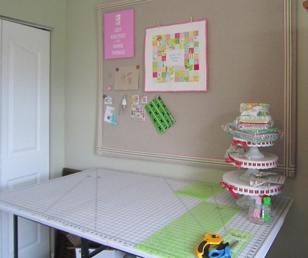 Quilting Table Set up With Various Accessories