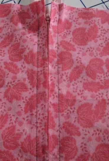 Railroad Zipper in a Pink Garment