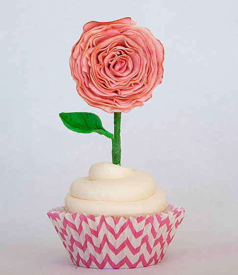 Cupcake with Flower Topper, on Bluprint
