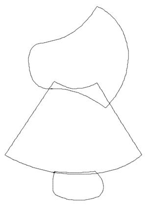Outline of Embroidery Design