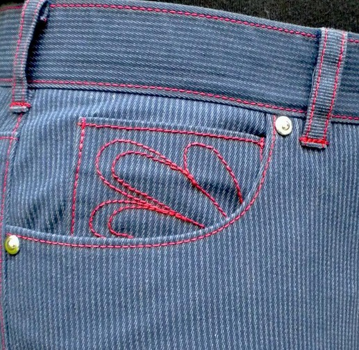 Top Stitching on Jeans
