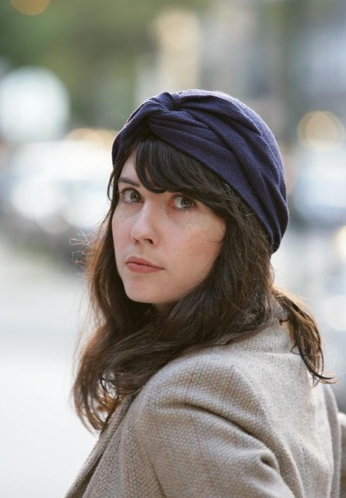 Girl Wearing Vintage turban Hat