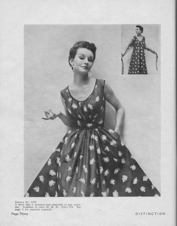 Vintage Pattern Cover Featuring Woman in Stylish Dress
