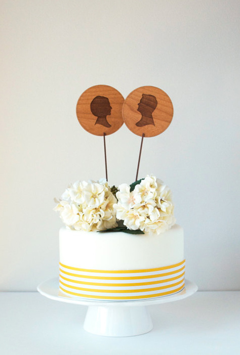 Silhouette Cake Topper, on Bluprint