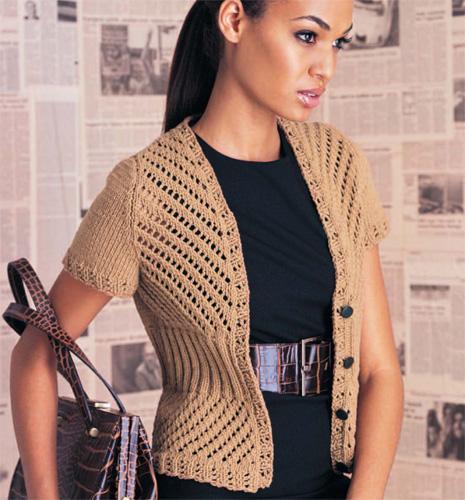 Vogue Knitting eyelet cardigan