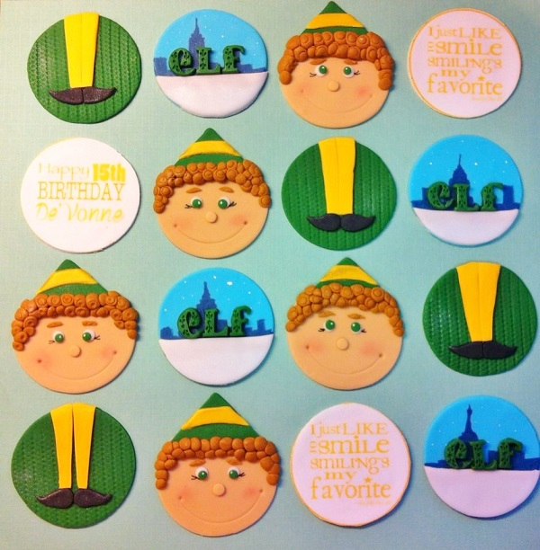 Christmas Cupcake Toppers - Elf