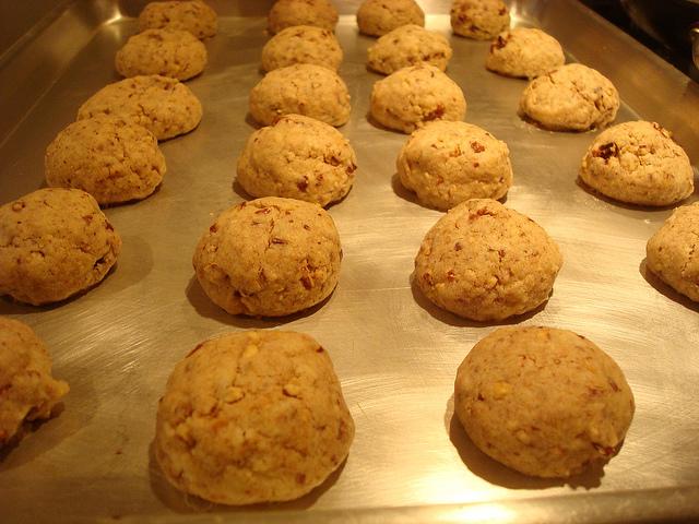 Snowball Cookies - Baking in Oven