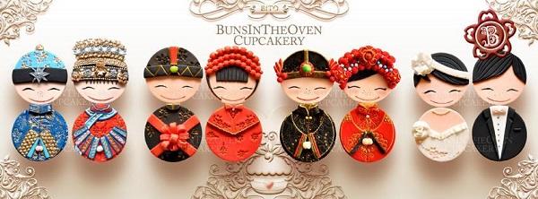 Cultural Wedding Cupcakes