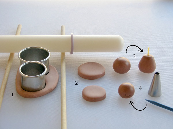 Materials for Making Fondant Girl