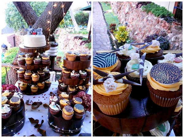 Towers of African-Inspired Cupcakes