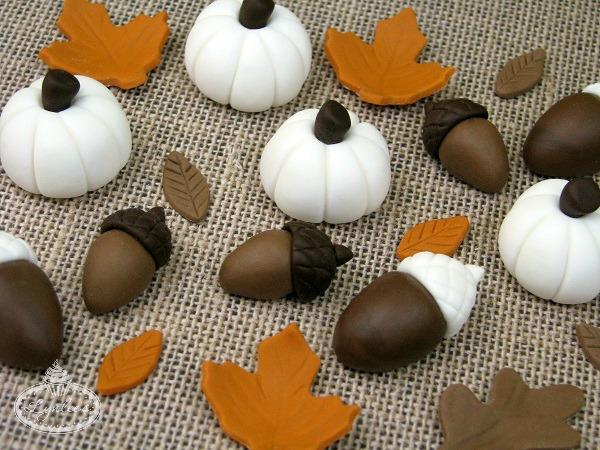 Pumpkin and Acorn-Shaped Fall Sweets, on Bluprint