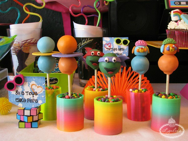 Cake Pops Shaped Like 80s Toys