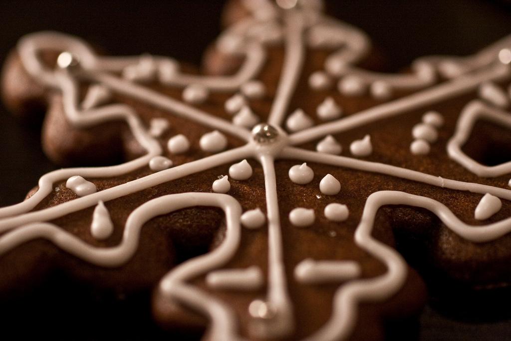Snowflake-Shaped Cookie