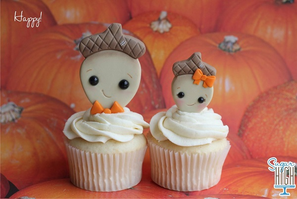 Two Cute Fall Cupcakes, on Bluprint