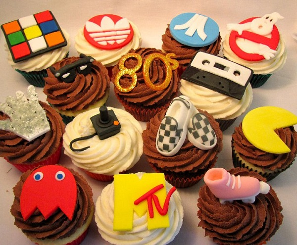 Fondant Toppers Representing Icons of 80s Pop Culture