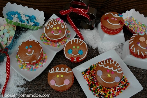 Gingerbread Cupcakes with Candy