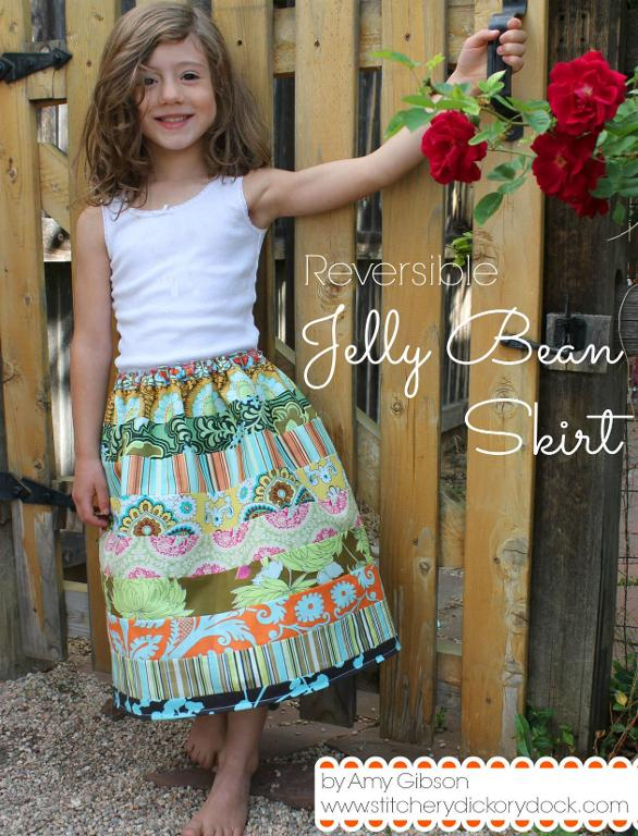 Girl in Jelly Bean Skirt - Pattern on Bluprint.com