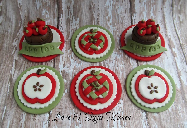 Apple Fondant Toppers