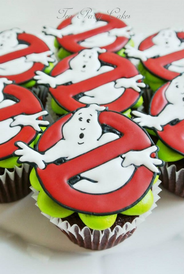 Ghost Buster 80s Cupcake Toppers, on Bluprint