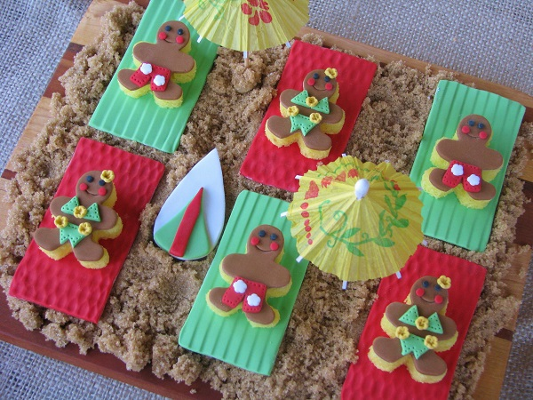 Fondant Tropical Gingerbread Men