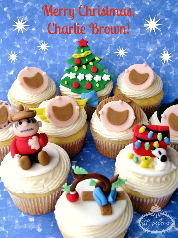 Charlie Brown Cupcake Toppers for Christmas