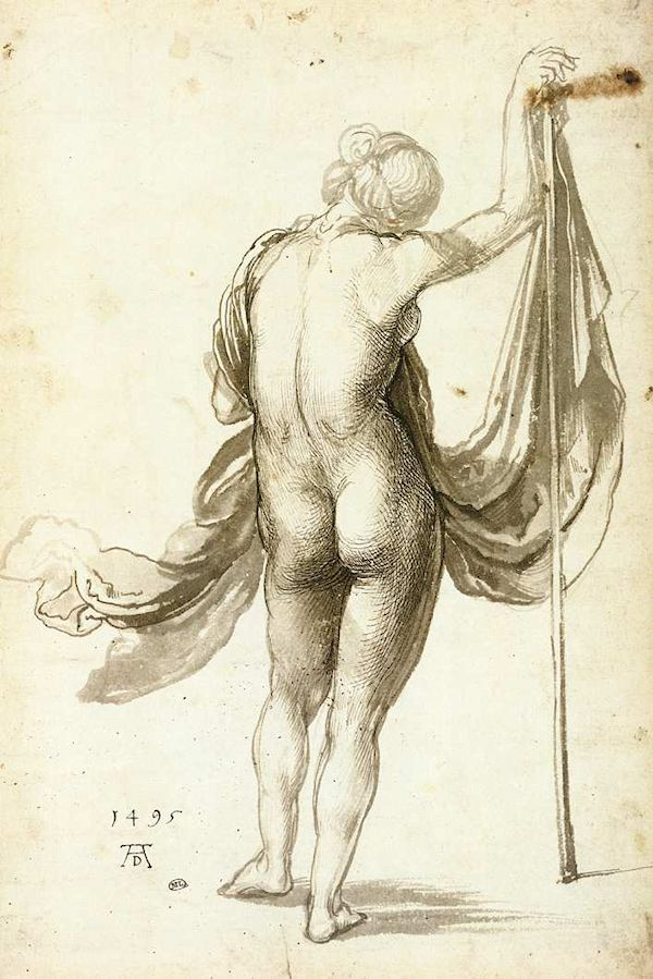 Albrecht Dürer - Female Nude from Behind