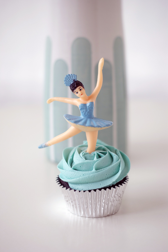 Cupcake Topped with Ballerina