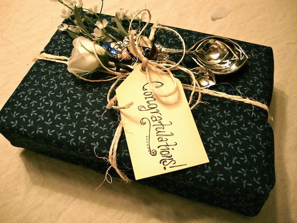 Gift Elegantly Wrapped in Fabric