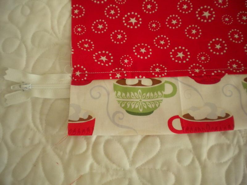Zipper Sewn onto Pillow Fabric, on Craftsy