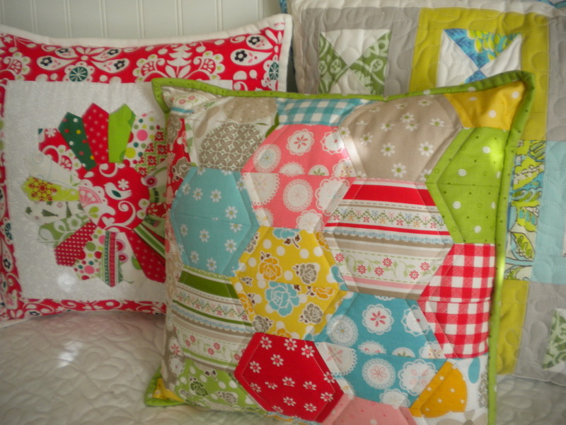 Three Quilted Pillow Shams - on www.craftsy.com
