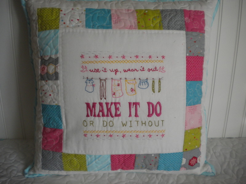 """Pillow Reading """"Make it Do or Do Without"""""""