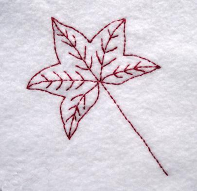 Embroidered Leaf Pattern, on Bluprint
