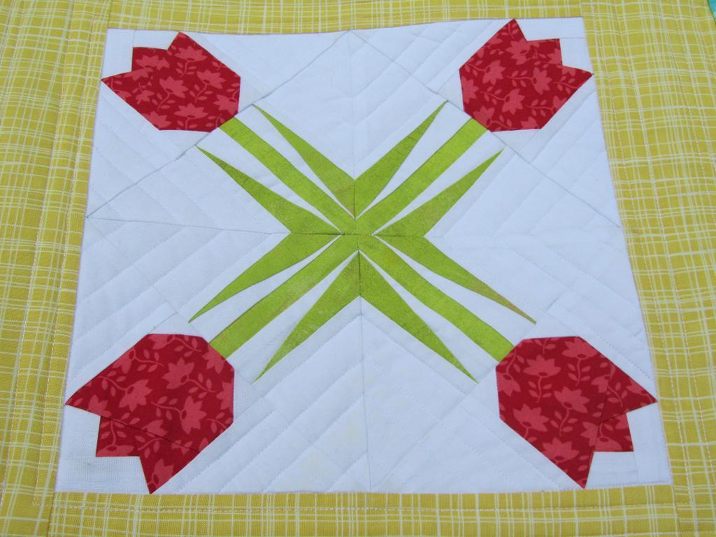Twinkling Tulip Quilt Pattern - Free on Bluprint