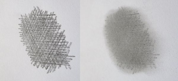 4B crosshatching before and after blending