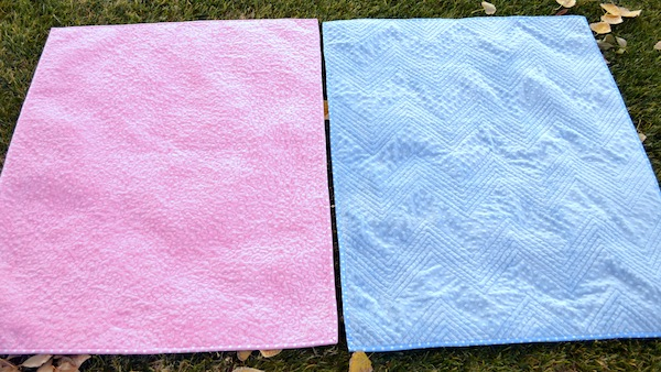 Blue and Pink Minky Quilts, on Craftsy via Craft Sew Create